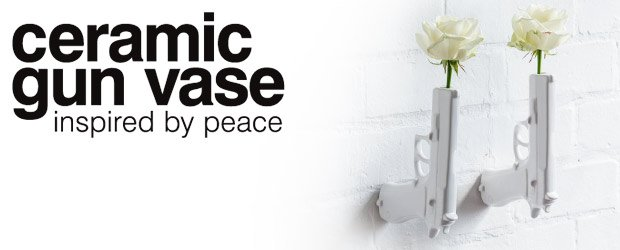 Ceramic Gun Vase Wall Vase Inspired By Peace