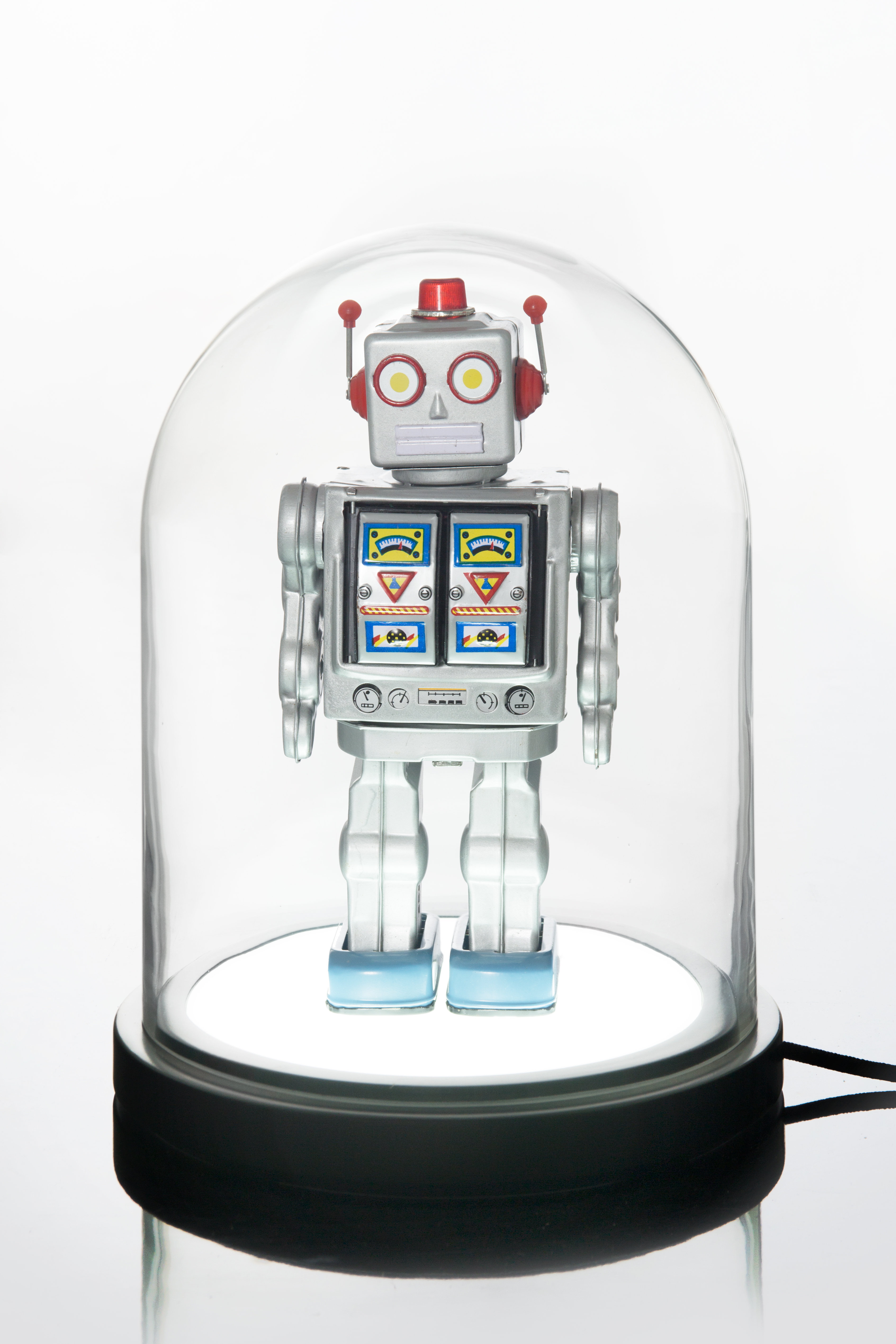 in en lights lamp porcelain robot table funny ie blue