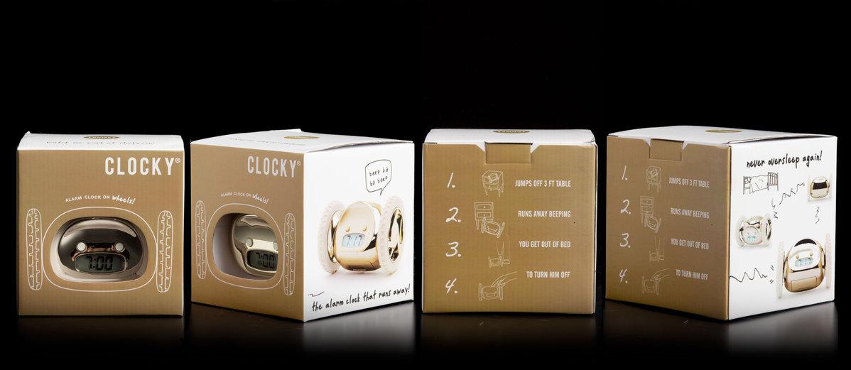 Clocky : Alarm Clock That Runs Away To Get You Up.