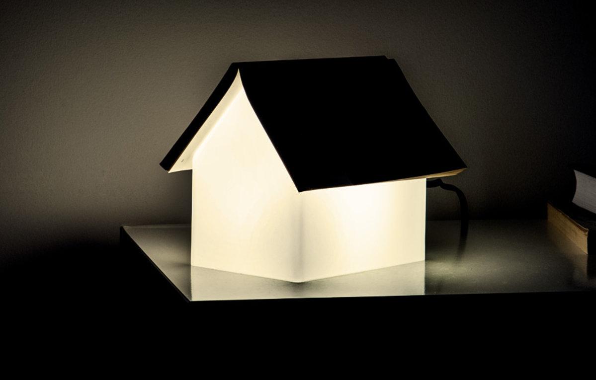 book rest lamp house shaped bedside reading light. Black Bedroom Furniture Sets. Home Design Ideas