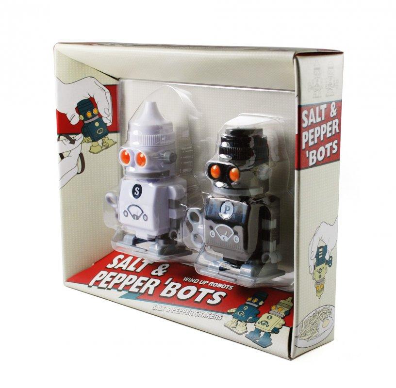 Salt Pepper 39 Bots Walking Clockwork Robot Condiments