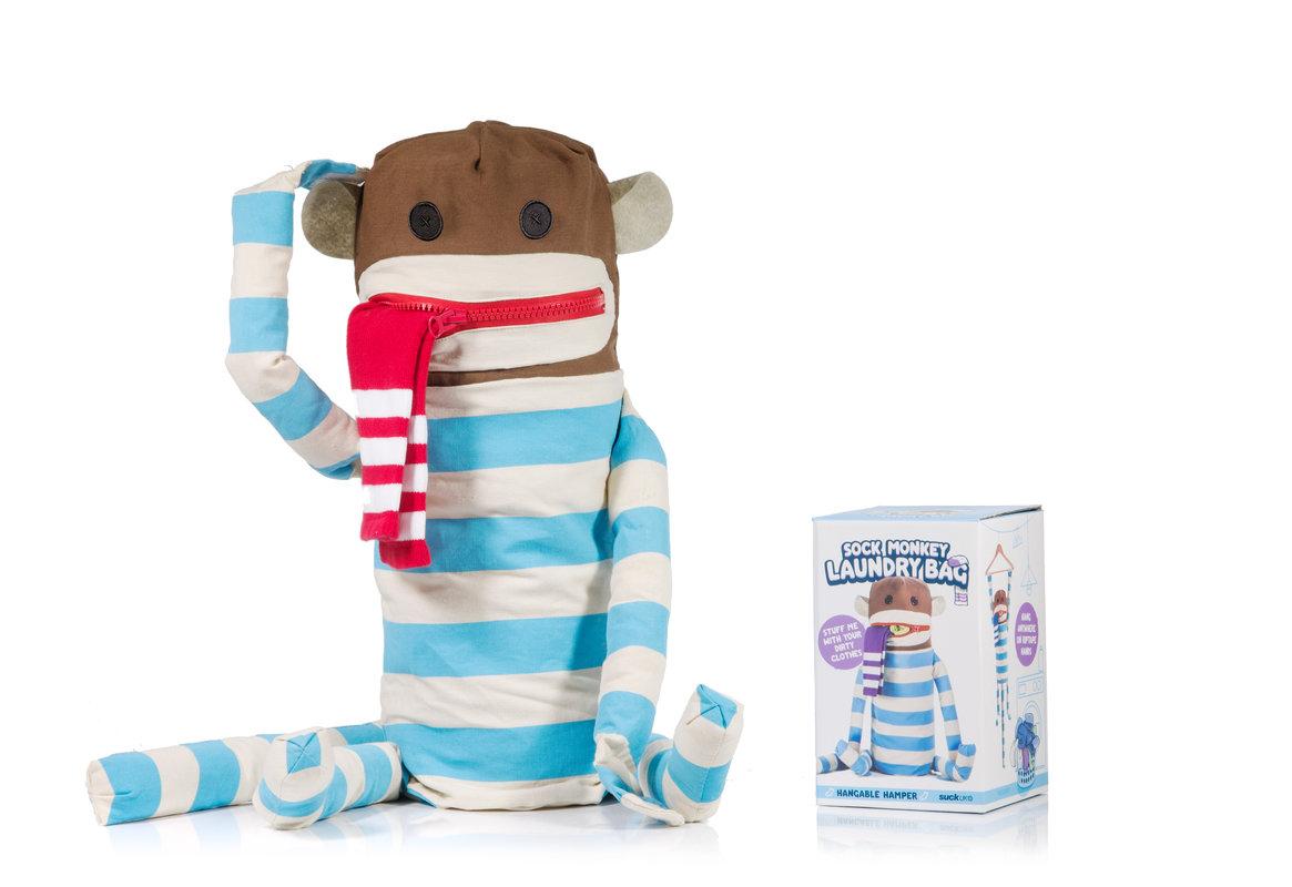 Dirty sock monkey huggable sock monkey laundry bag - Monkey laundry hamper ...