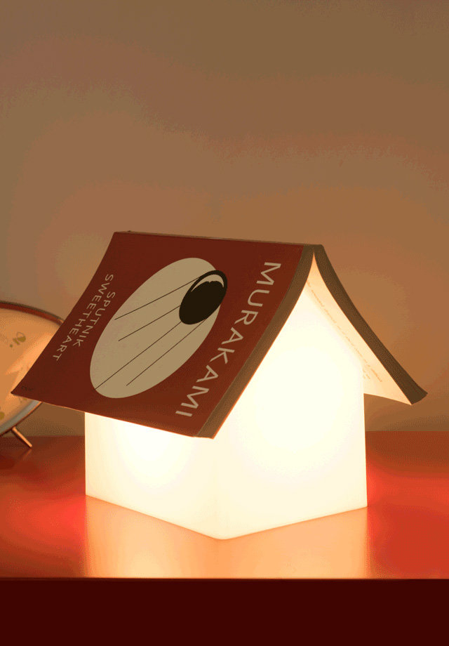 Book Rest Lamp House Shaped Bedside Reading Light