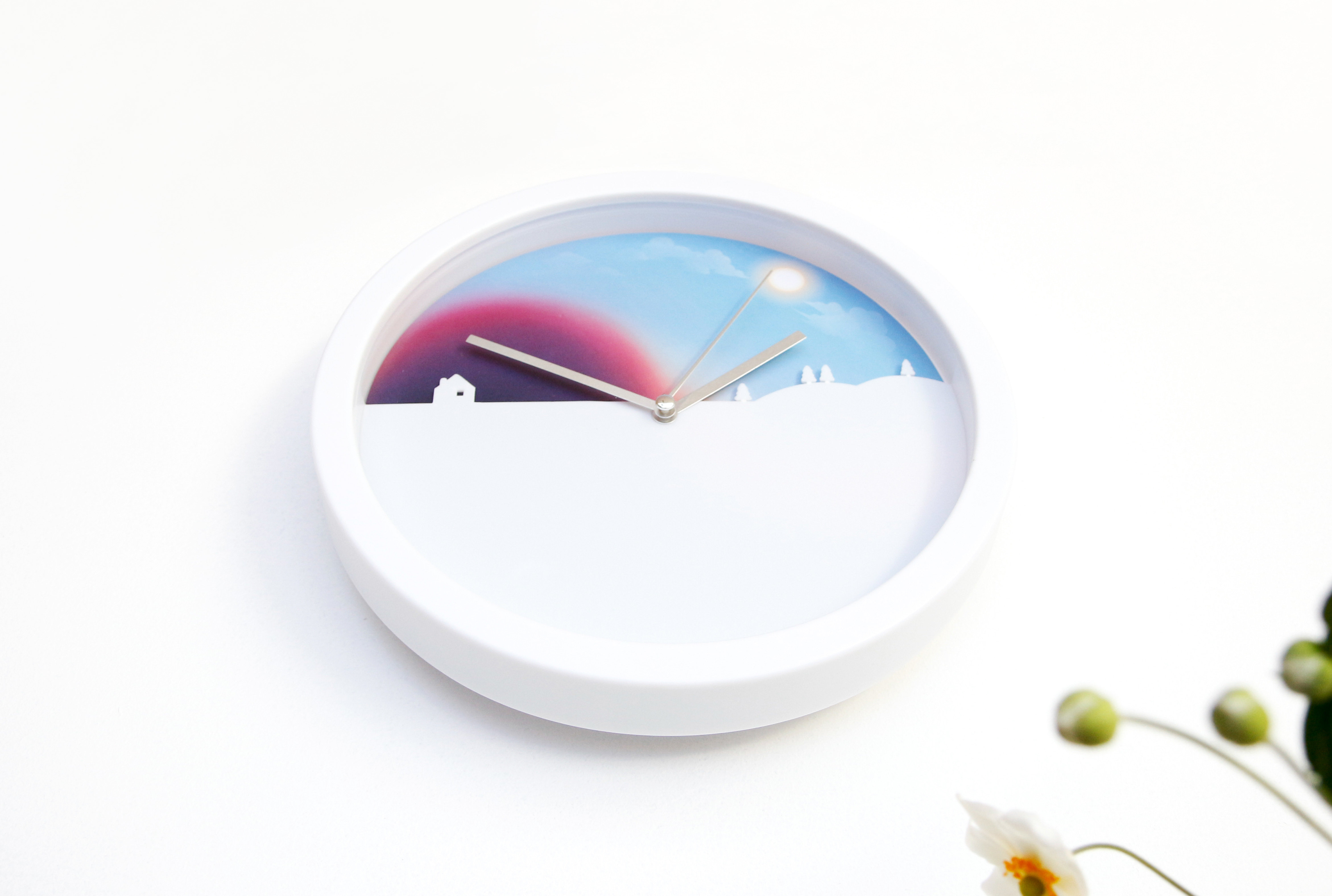 Day Amp Night Clock Content Gallery Wall Clock With