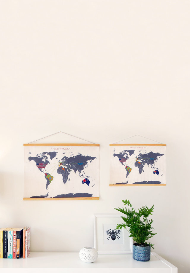 Cross Stitch Map : Sew your way around the world