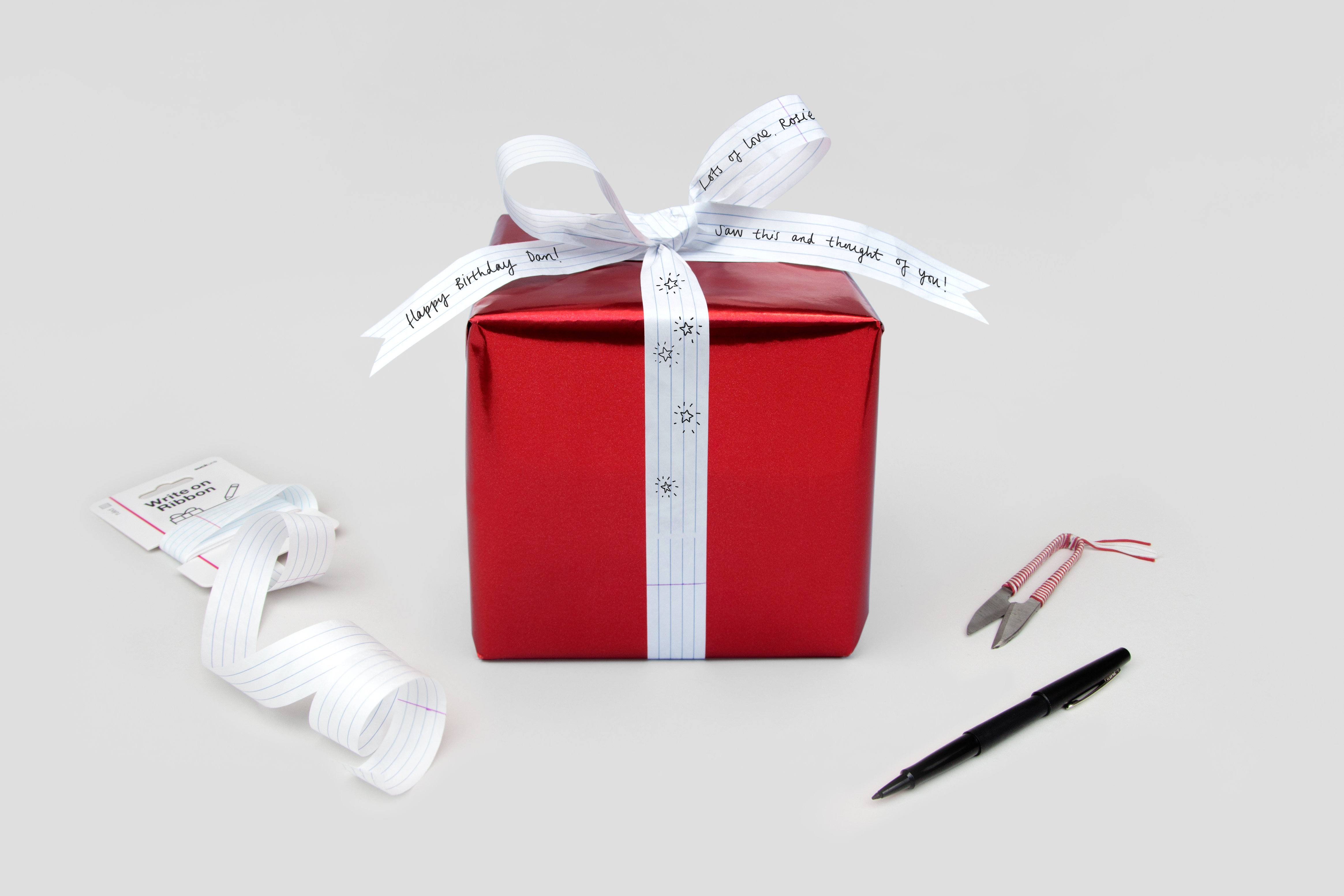 Write On Ribbon Content Gallery : Tear Proof Gift Ribbon For ...