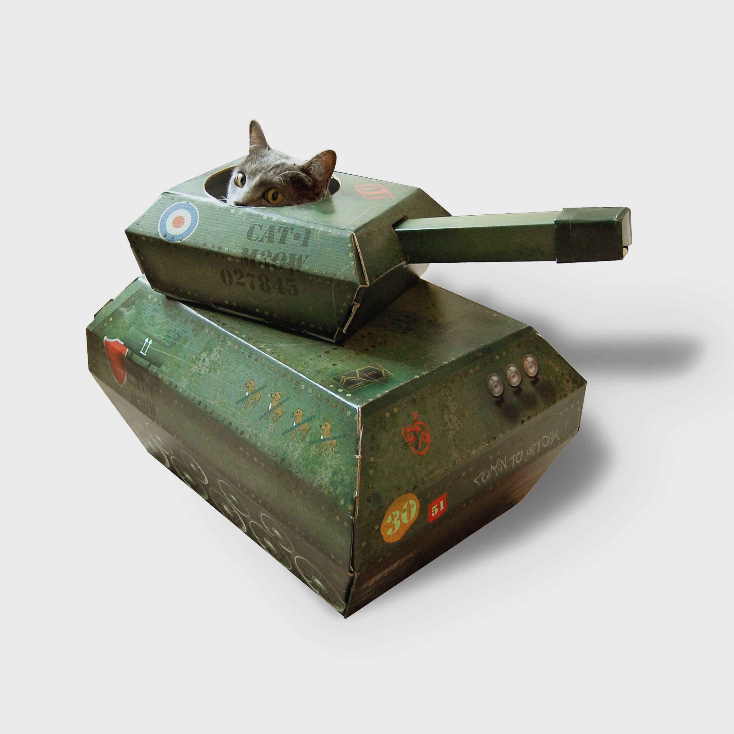 Cardboard Tank for Cats