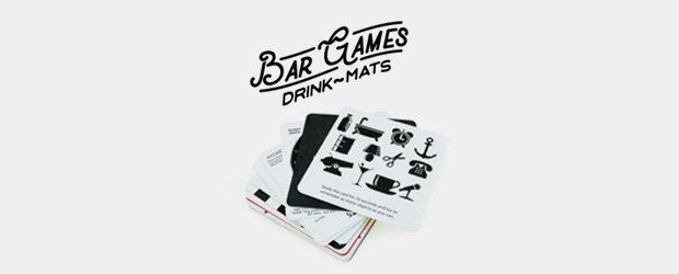 Assorted beer mats with games and puzzles
