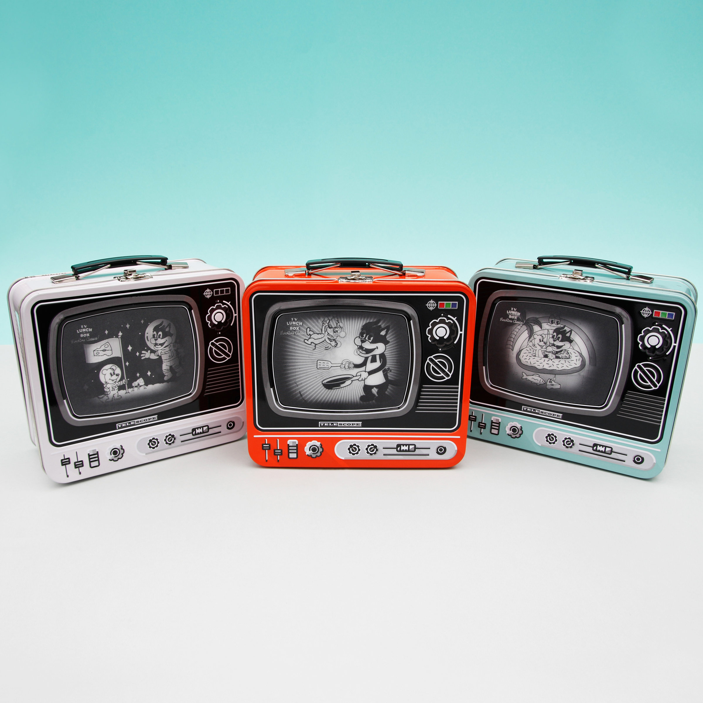 TV Lunch Box with Lenticular screen 3 colours