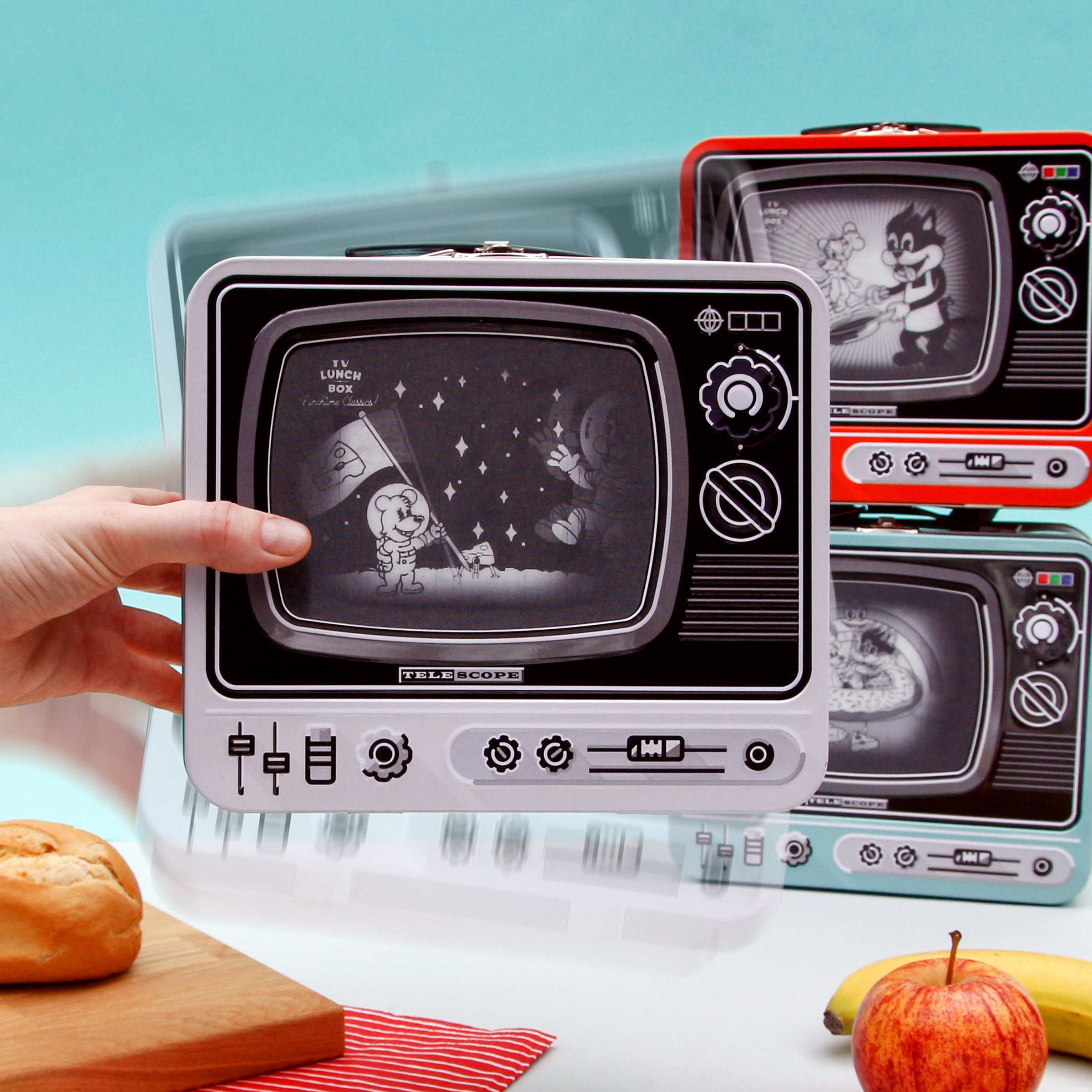 TV Lunch Box with Lenticular screen