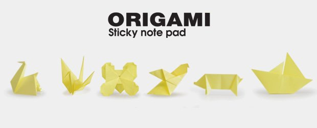 Origami sticky note pad