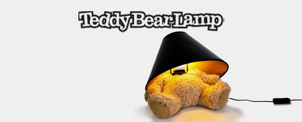 A teddy bear with a lamp for a head!