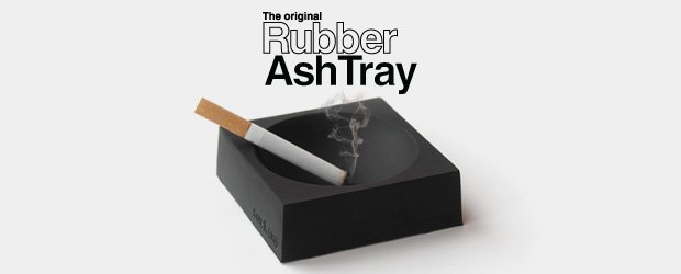 Indestructible rubber ashtray