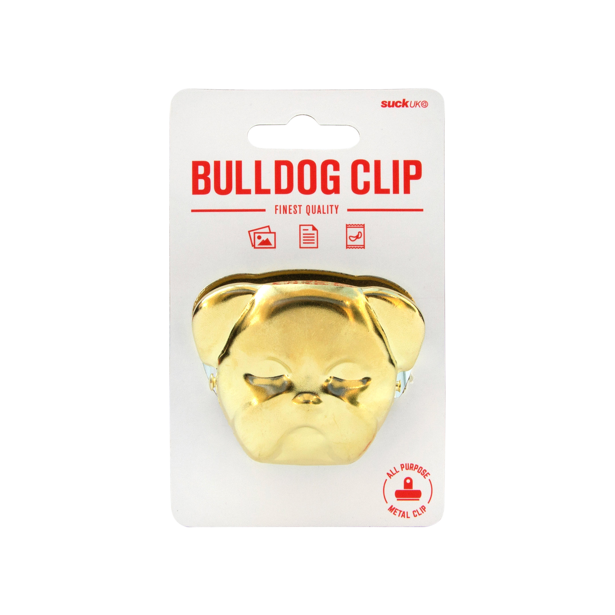 Brass bulldog clip for sealing food and organising paperwork