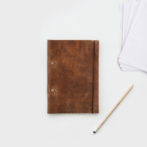 Make your own notebook from recycled paper