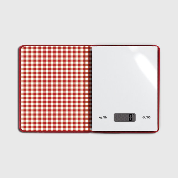 Electronic Food Scale Stored in a Book