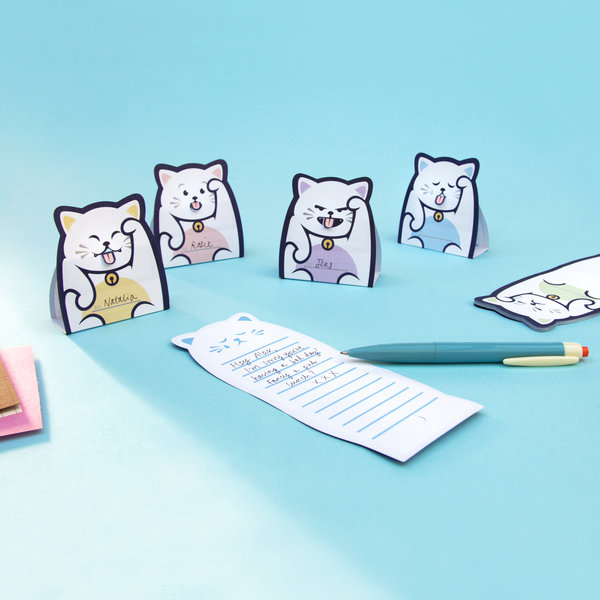 Cat Shaped Memo Pads With Different Expressions