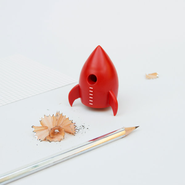 Kids Pencil Sharpener in Cool Rocket Design