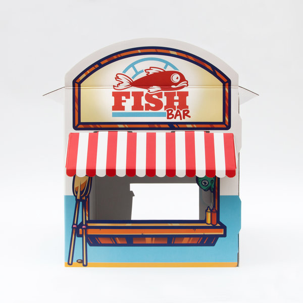 Cat Play House In Fish Bar Design