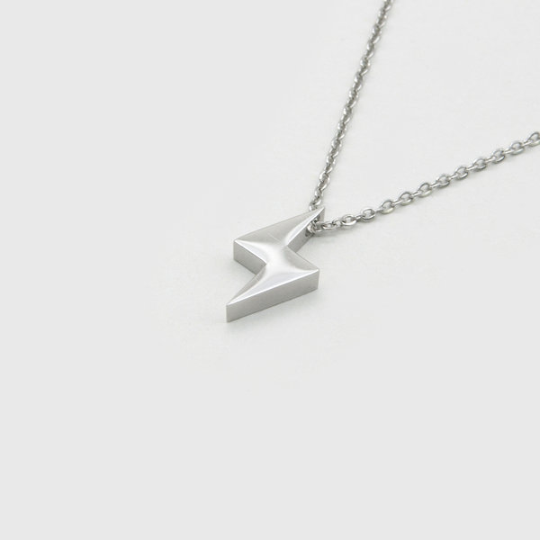 Kuku lightning necklace in silver
