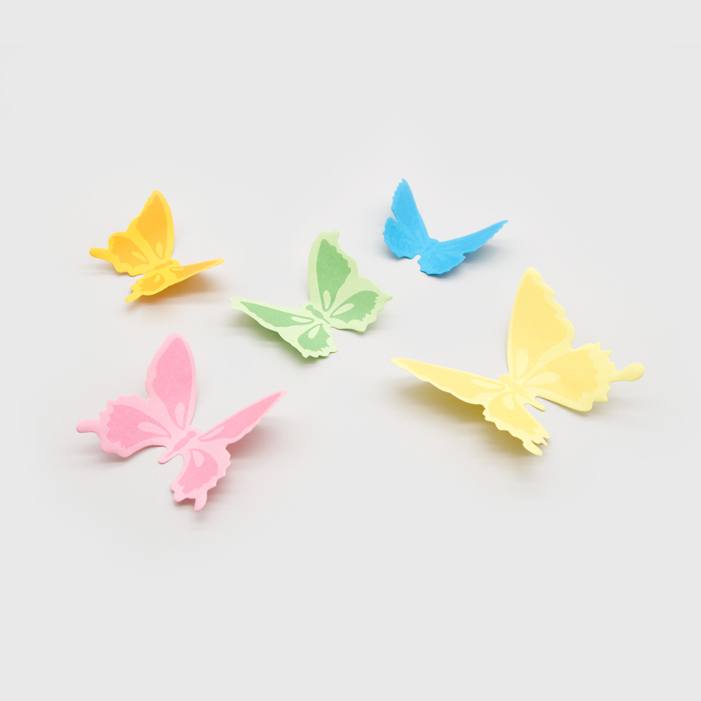 Set of 5 butterfly sticky notes