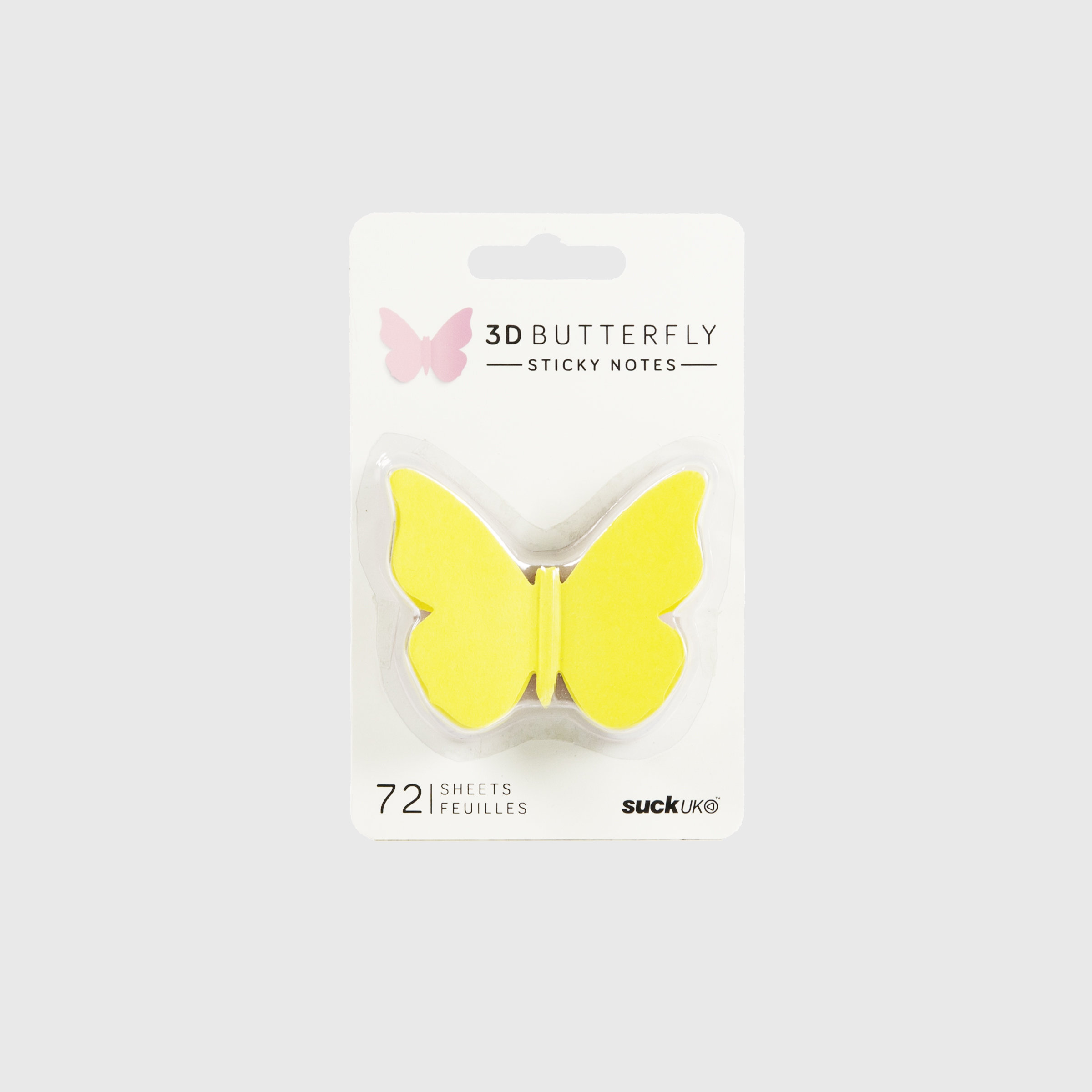3D butterfly sticky notes in packaging