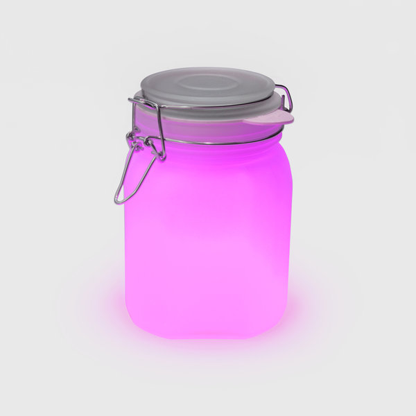Pink solar sun light jar