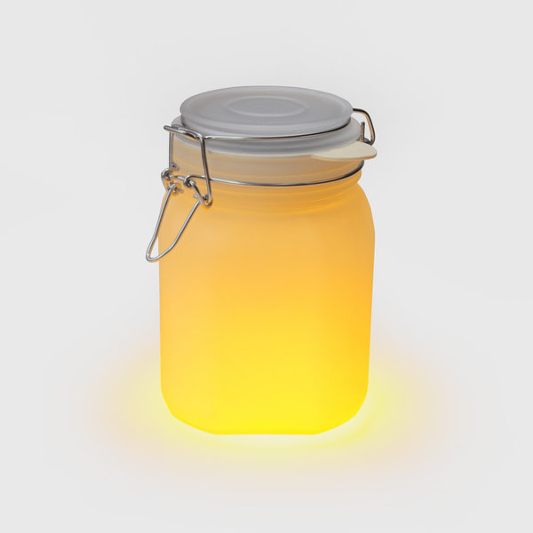 Yellow solar sun light jar