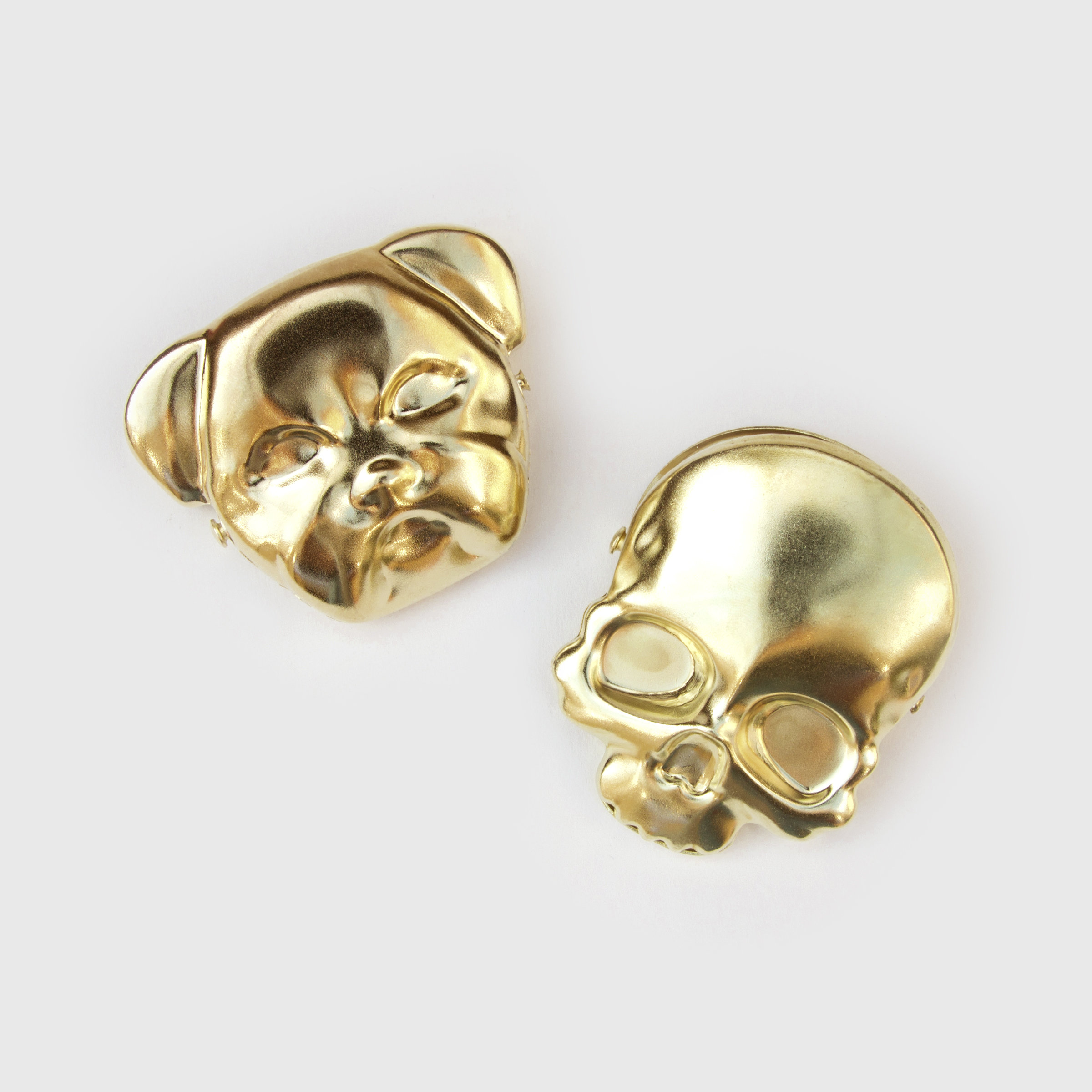 Brass skull and bulldog clip