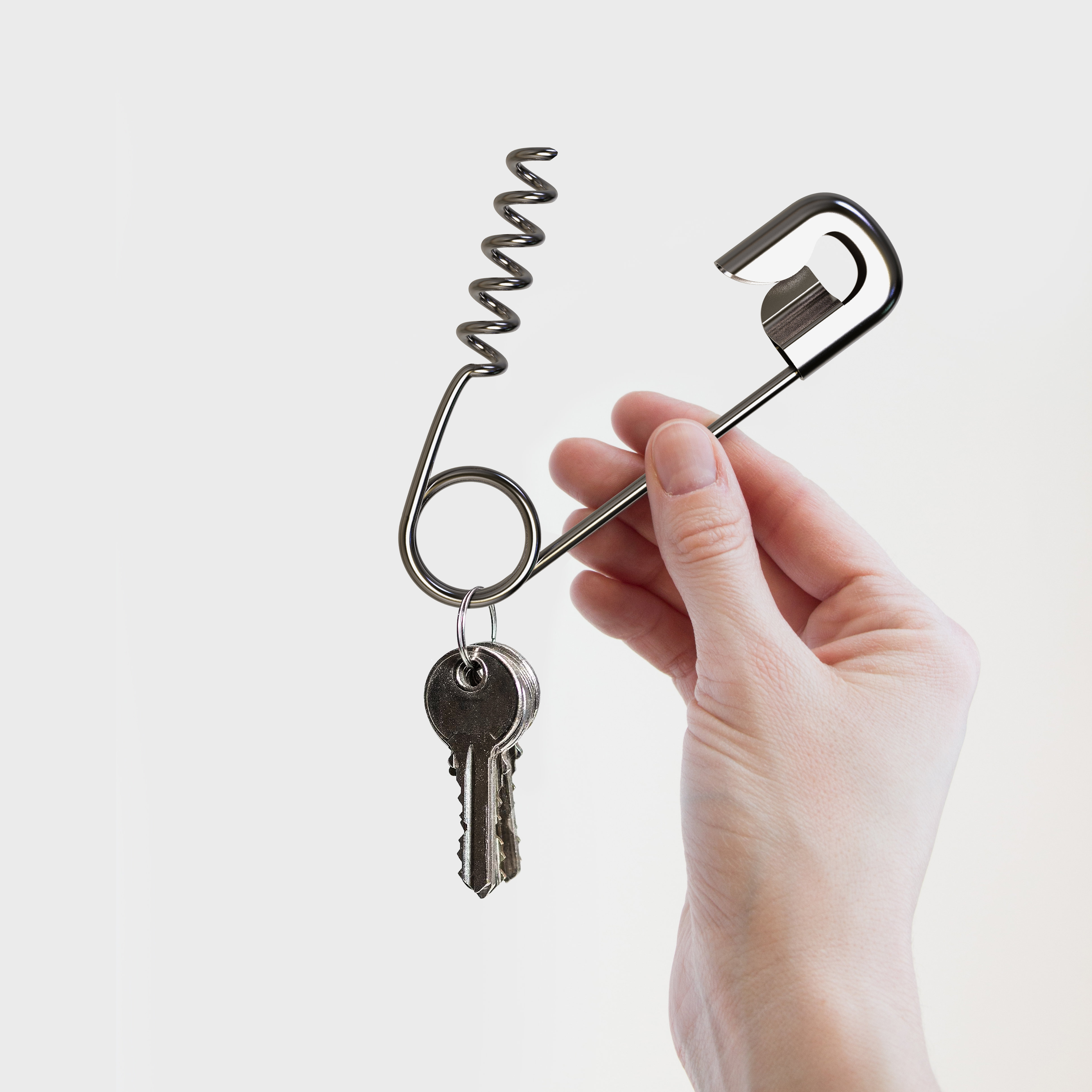 Safety Pin Key Chain