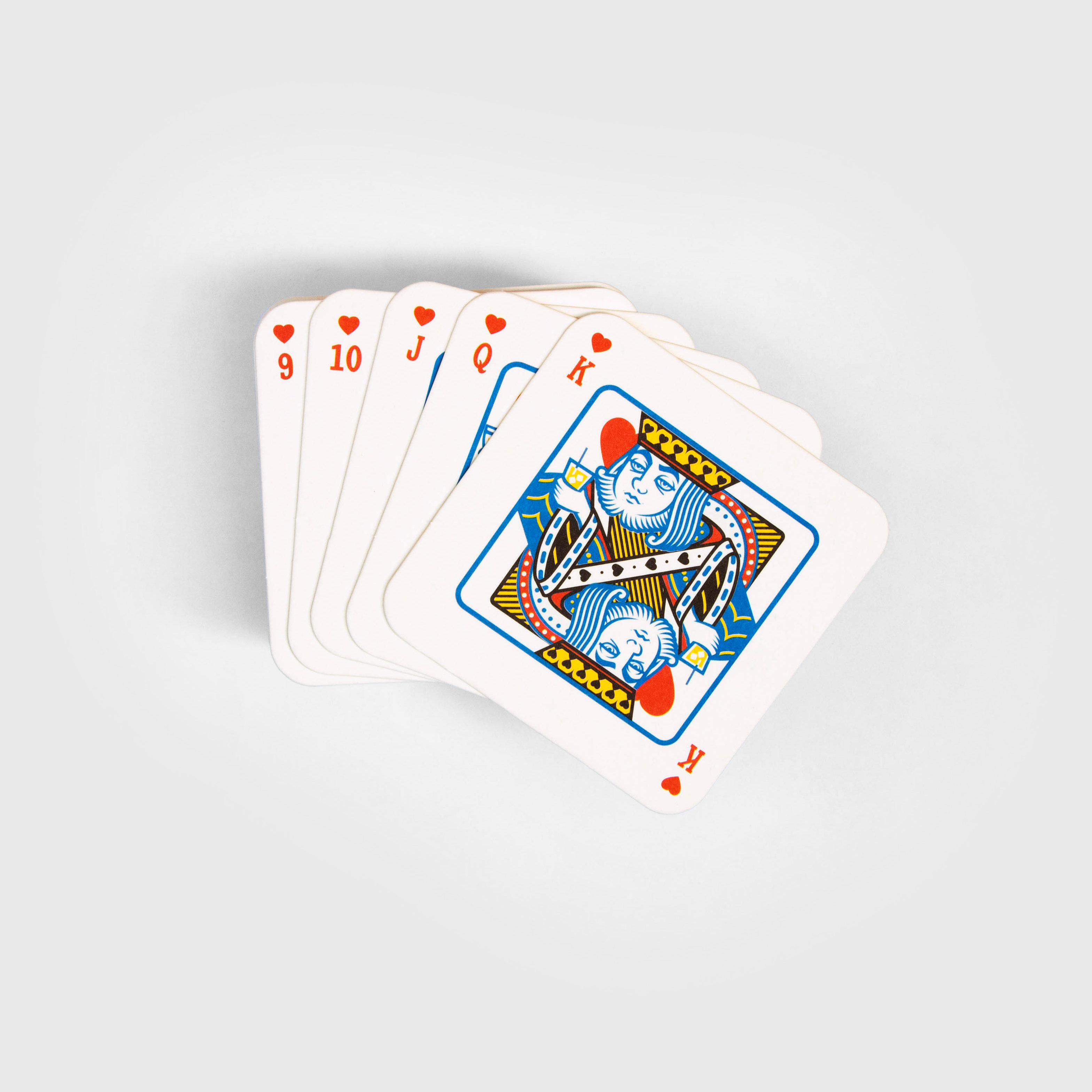 Playing Card Beer Mats