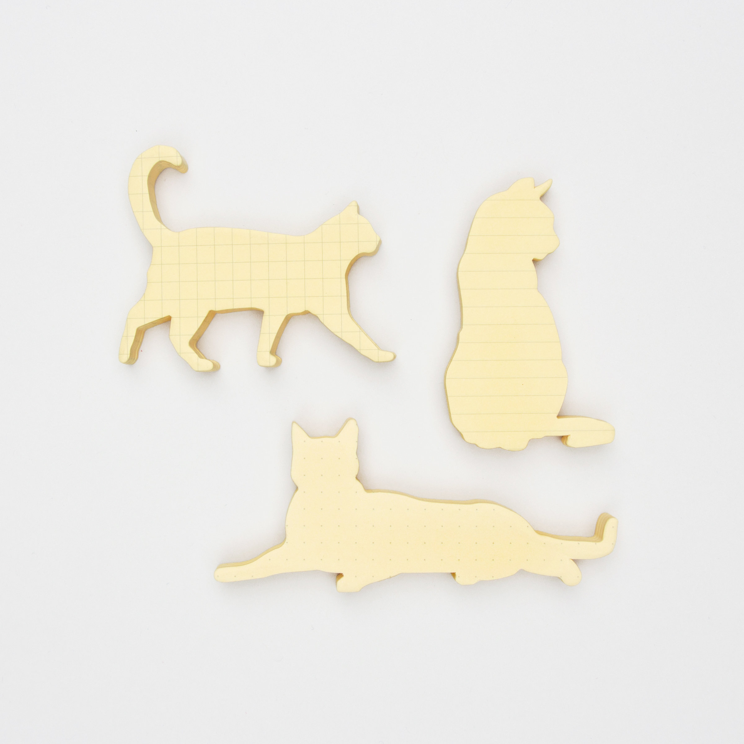 Cat shaped sticky notes