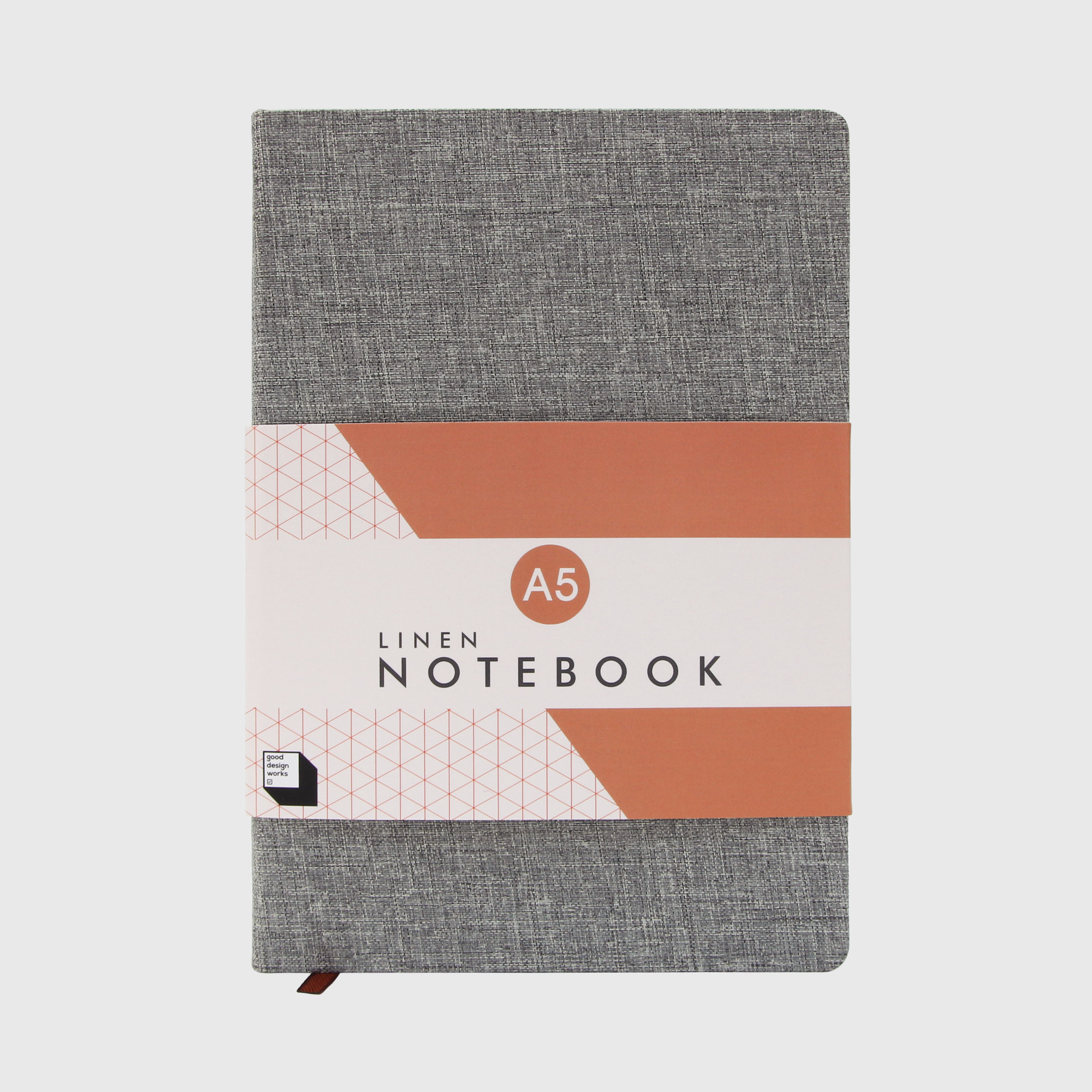 Linen notebook in slate