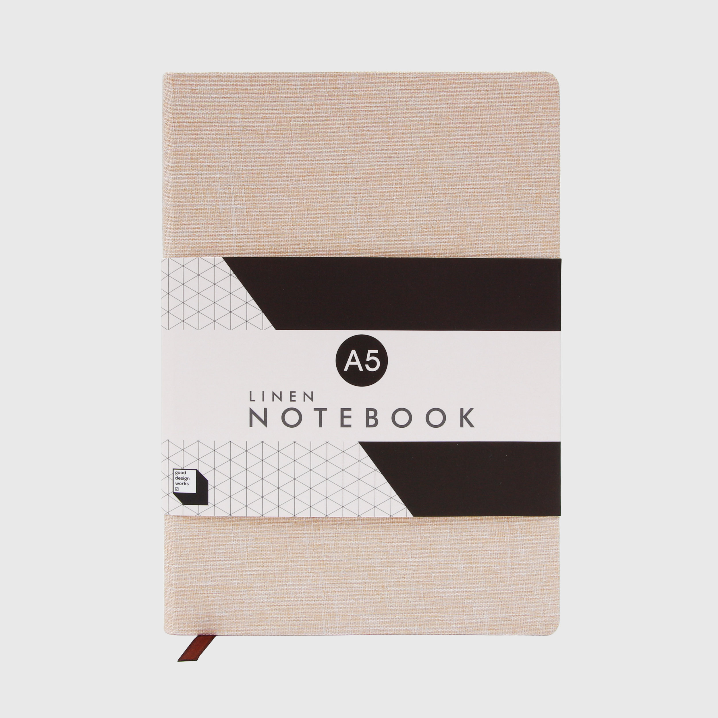 Linen notebook in stone