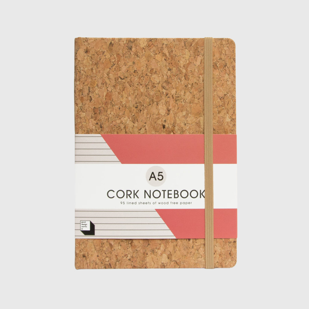A5 Cork covered notebook