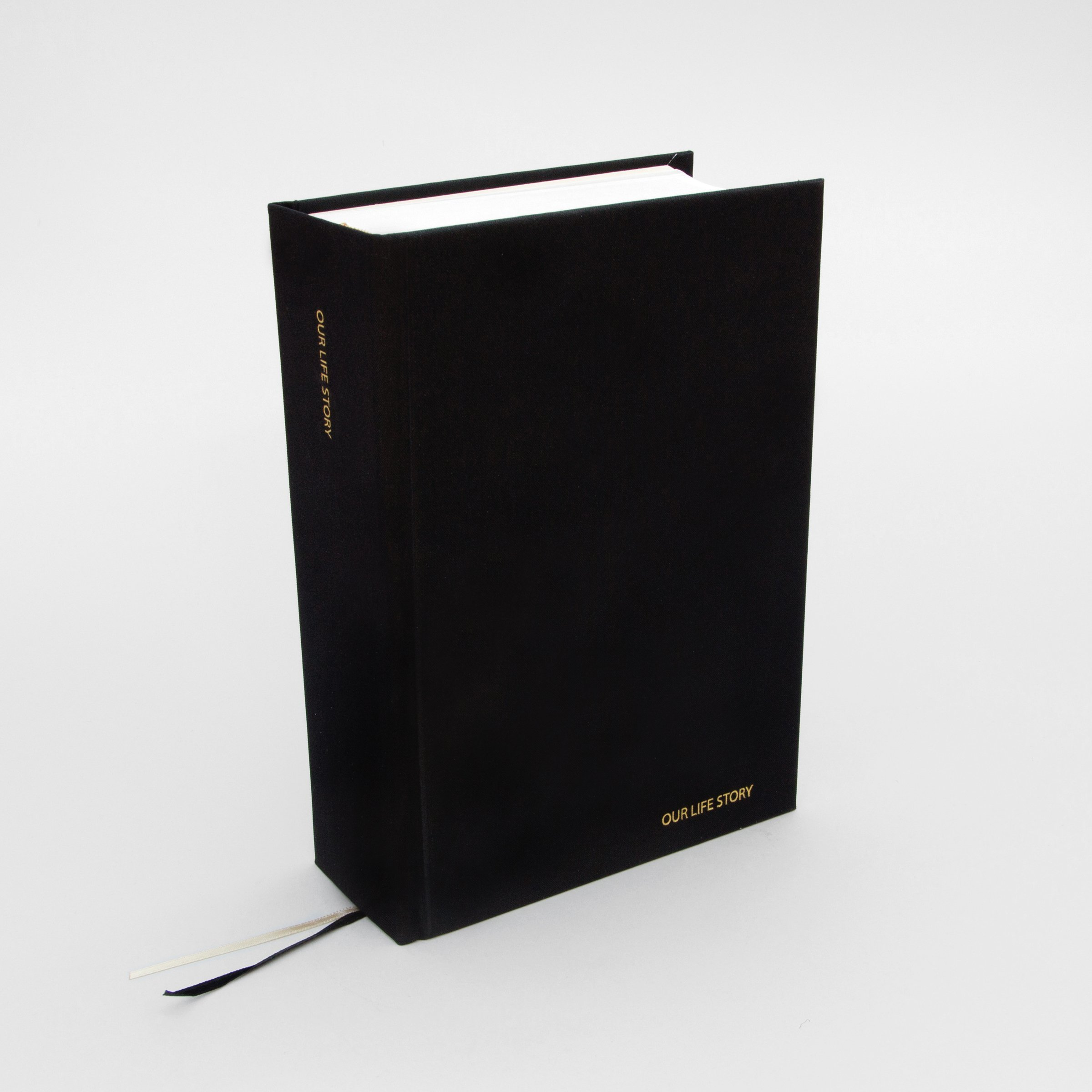 Black Our Life Story fabric bound journal