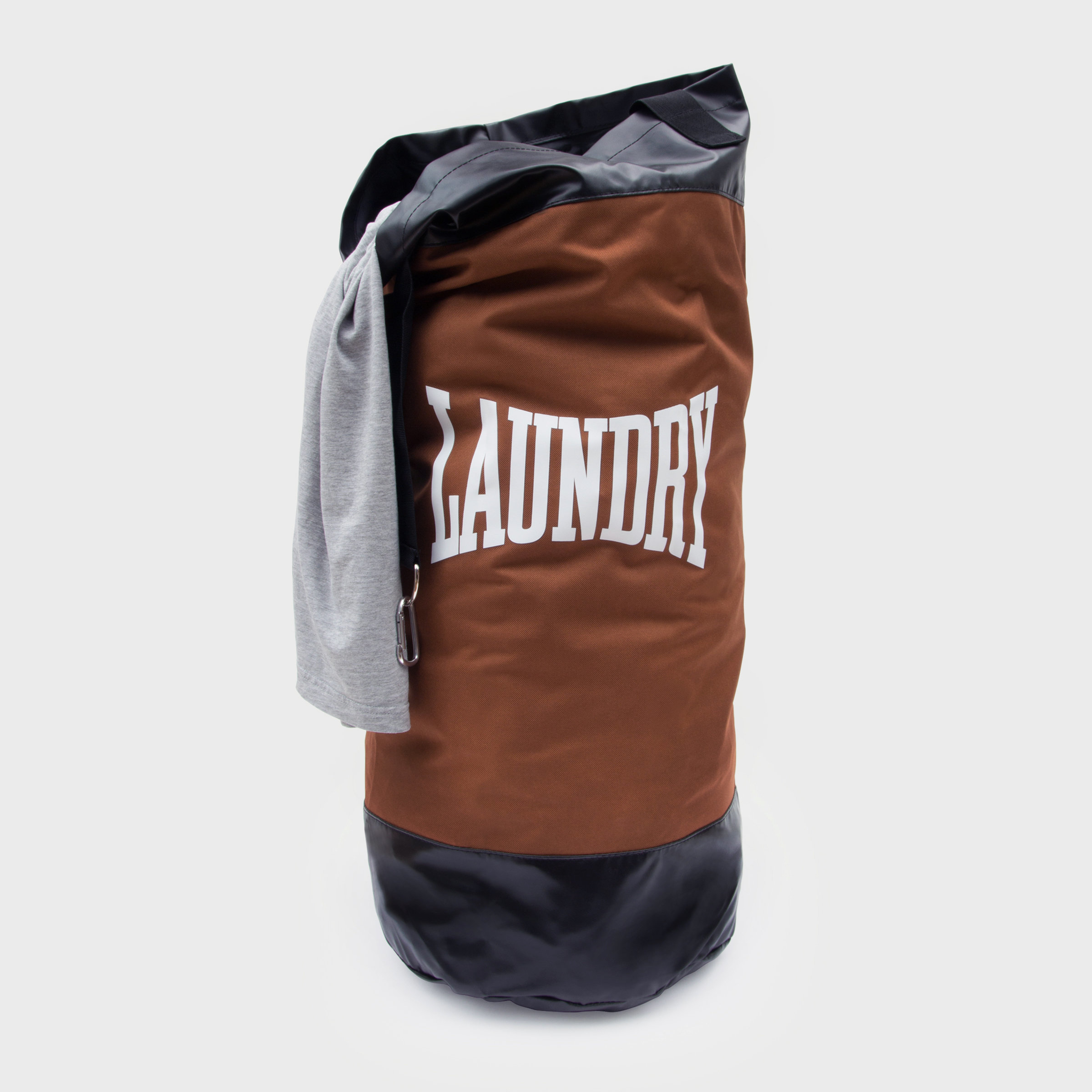 Brown laundry punch bag