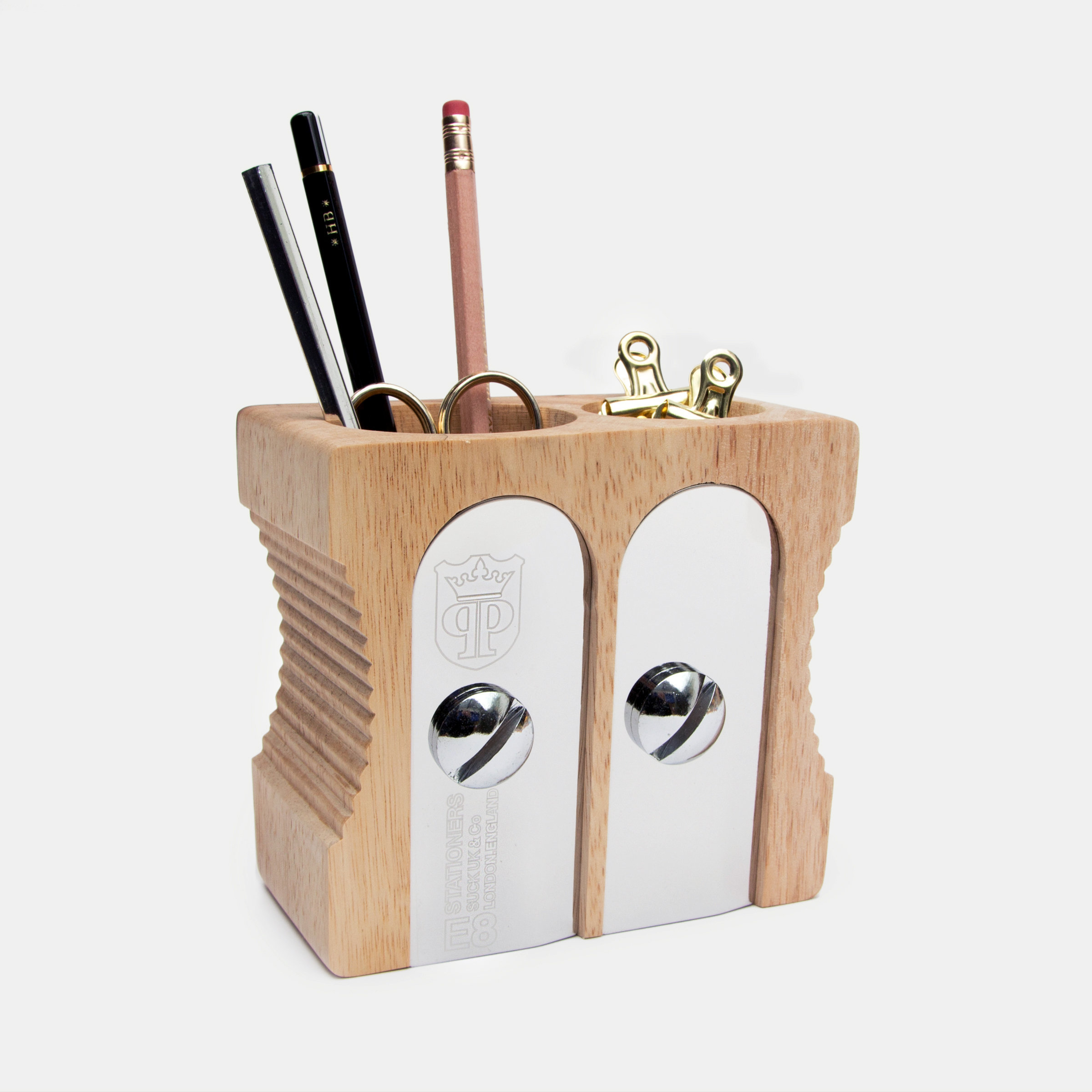 Double size light sharpener desk tidy