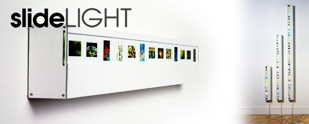 slide light display your old photos in a wall light