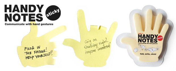 Handy Sticky Notes Communicate With Paper Hand Gestures