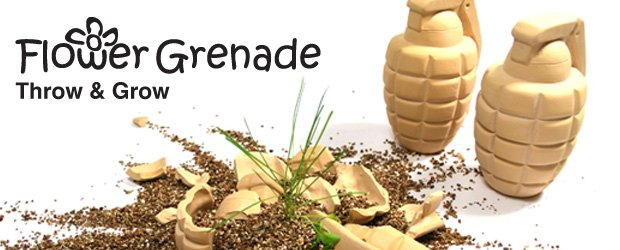 Flower Grenade : Bombs smash open to spread the seeds