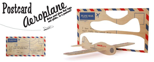 Post card aeroplane