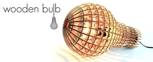 Wooden Bulb Oversize Light Bulb Made In Ply Wood