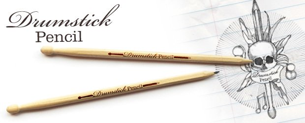 A pair of pencils that are also drumsticks