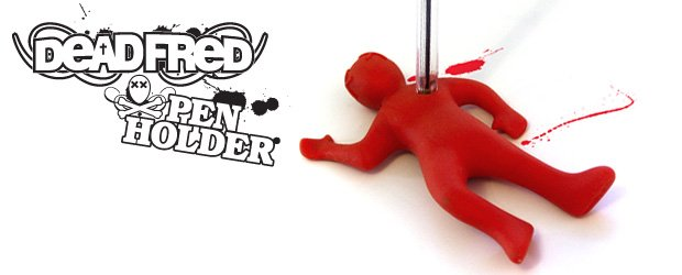 Pen holder.  Murder Fred again and again with your pen!