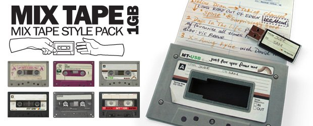 Share music compilations with this retro USB memory stick