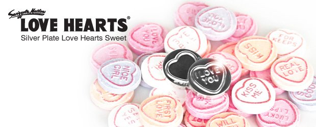 Love Hearts Silver Replica Of The Classic Retro Sweet
