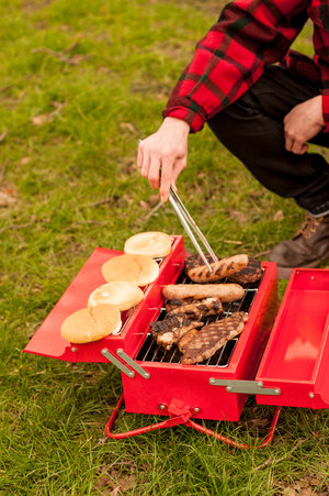 turn a toolbox into a BBQ