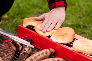 Cooking outdoors on BBQ Toolbox