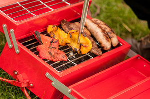 Red BBQ Toolbox designed by SUCK UK